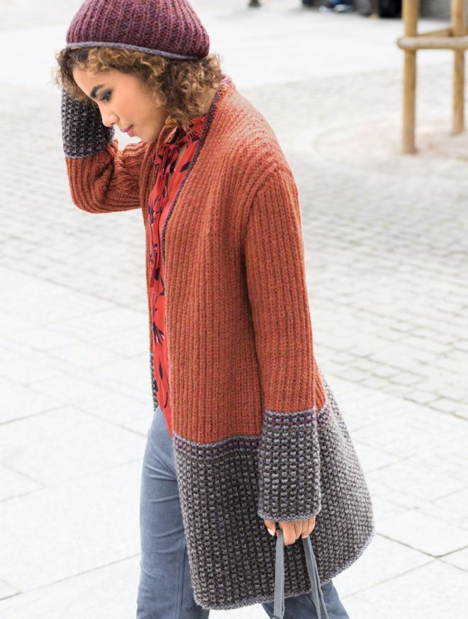 Easy Cardigan Knitting Patterns for beginners | Knitting ...