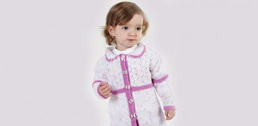 Top Down Baby cardigan-knitting pattern