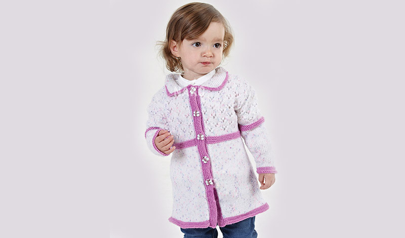Free Baby Girls Cardigan Knitting Pattern Knitting Patterns For