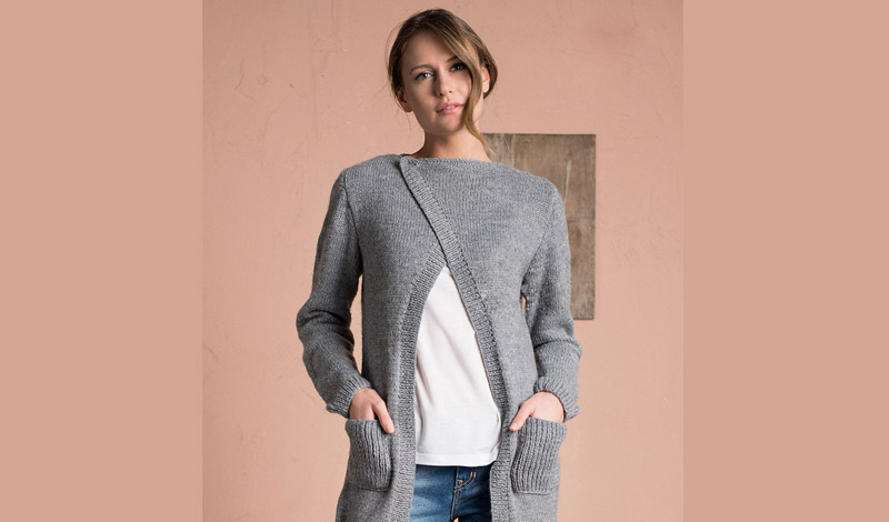 Free Women S Sweater Knitting Pattern Modern Knitting Patterns