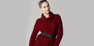 Turtleneck sweater knitting pattern