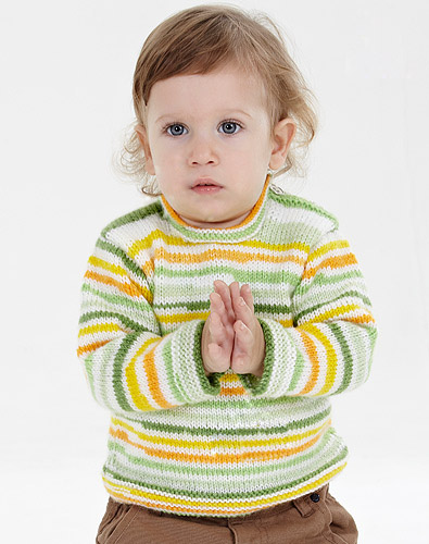 Easy Children's Sweater Knitting Pattern for beginner's