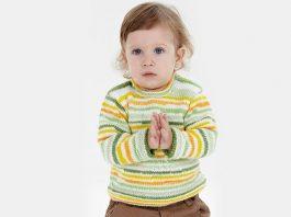 Easy Children's Sweater Knitting Pattern for beginner's
