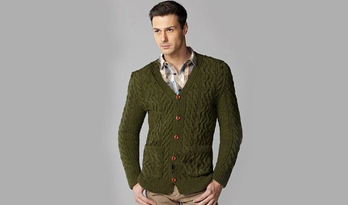 Fitted Cardigan Knitting Pattern for Men