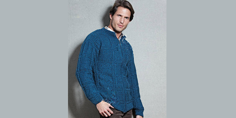 Free Classic Men's Cardigan Knitting Pattern | Knitting