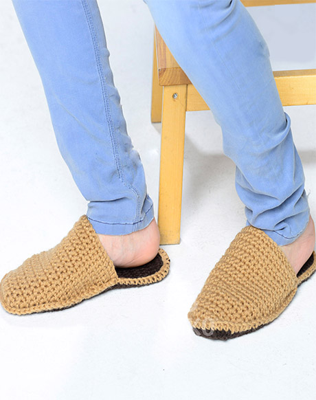 Easy Knitted Hause Slippers Pattern
