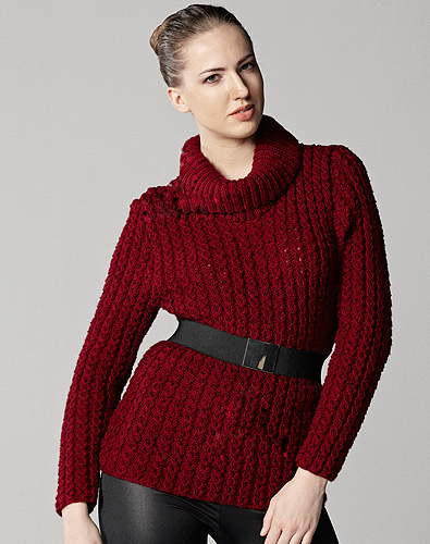 How to knit Turtleneck Sweater