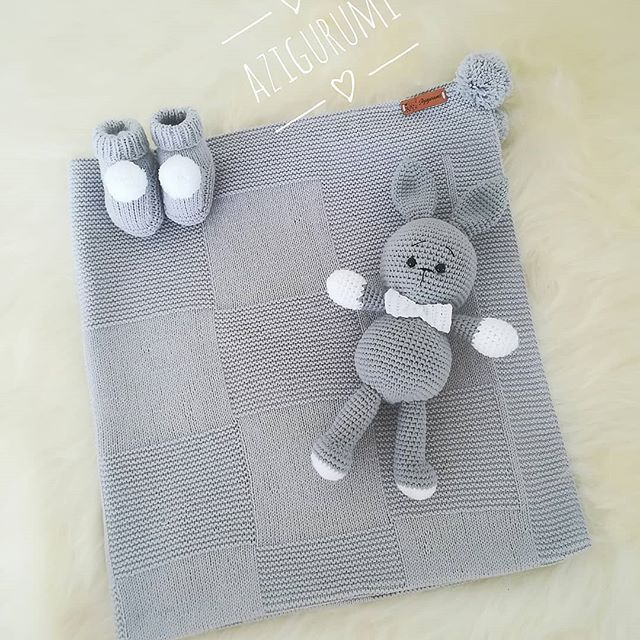 Amigurumi with a lovely baby blanket