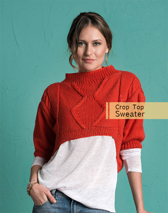 Crop sweater pattern for women
