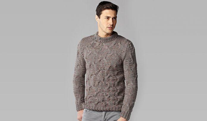 Mens sweater knitting pattern