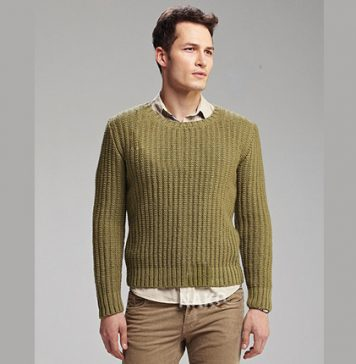 Fisherman's Rib Jumper Knitting Pattern Free