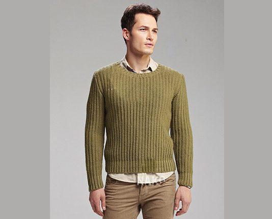 Fisherman's Rib Jumper Knitting Pattern Free