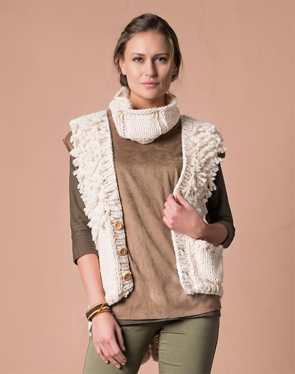 Easy Vest Scarf Knitting Pattern for Women's