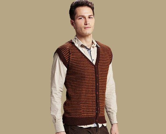 Easy Waiscoat Knitting Pattern For men. Free Mens Vest Pattern