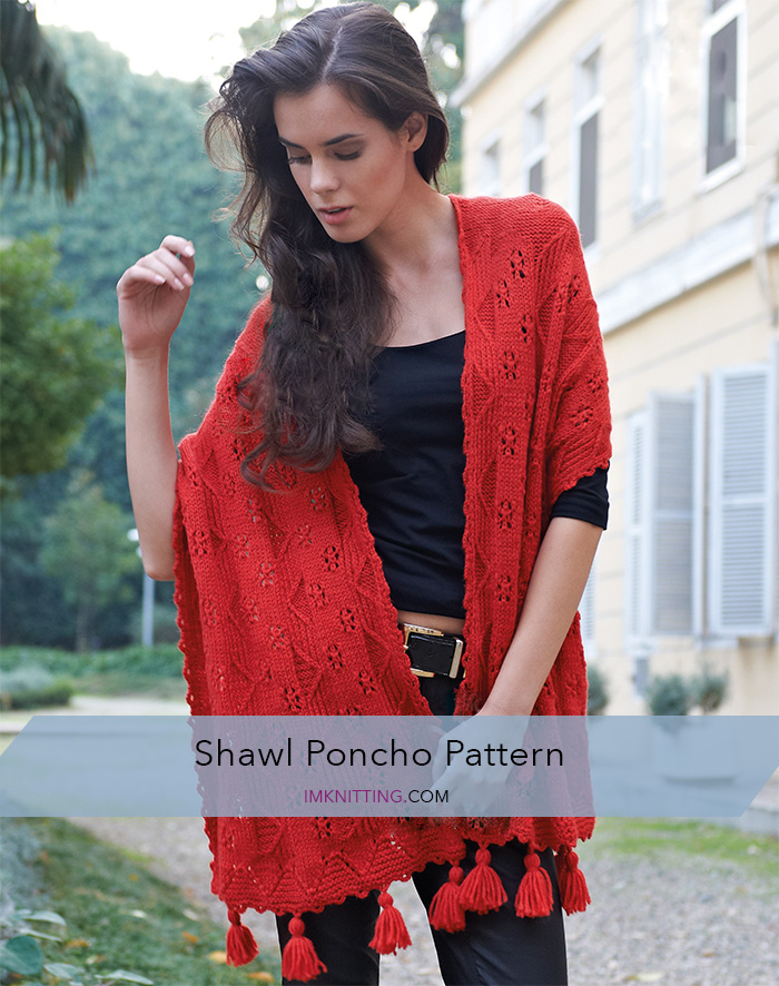 Women's shawl and poncho knitting pattern
