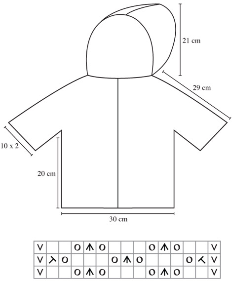 Chart For Hooded Cardigan