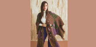 Free Embroidered patchwork poncho pattern