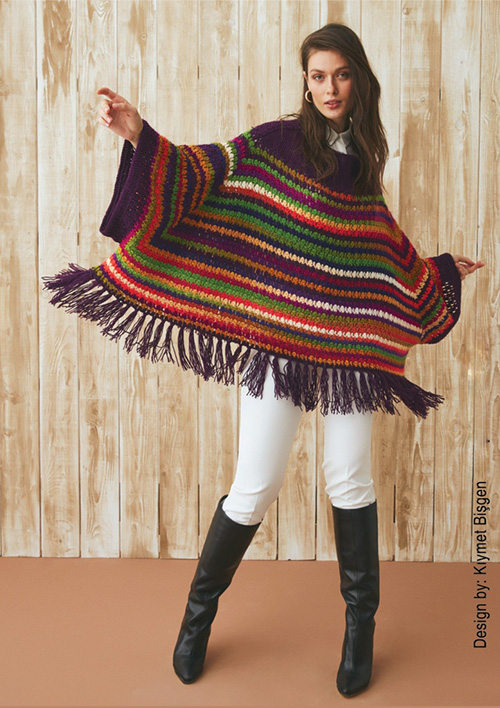 Some time, little patience and result: an incredible crochet poncho for women