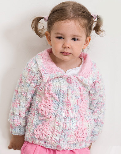 Sweater Knitting Pattern for baby girls
