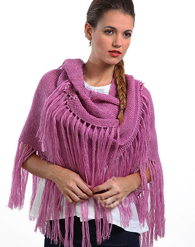 Women's Easy Glowing Wrap Knitting Pattern for Beginners
