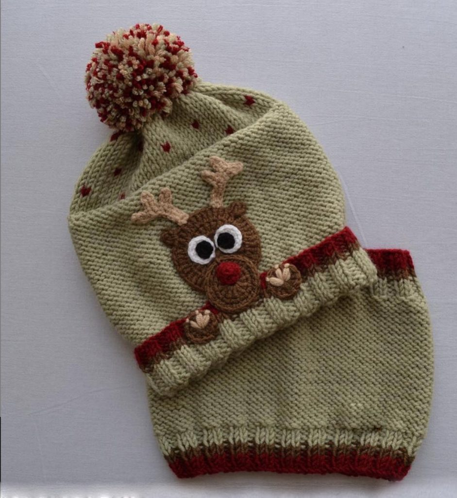 Cute Deer Knit Baby Hat