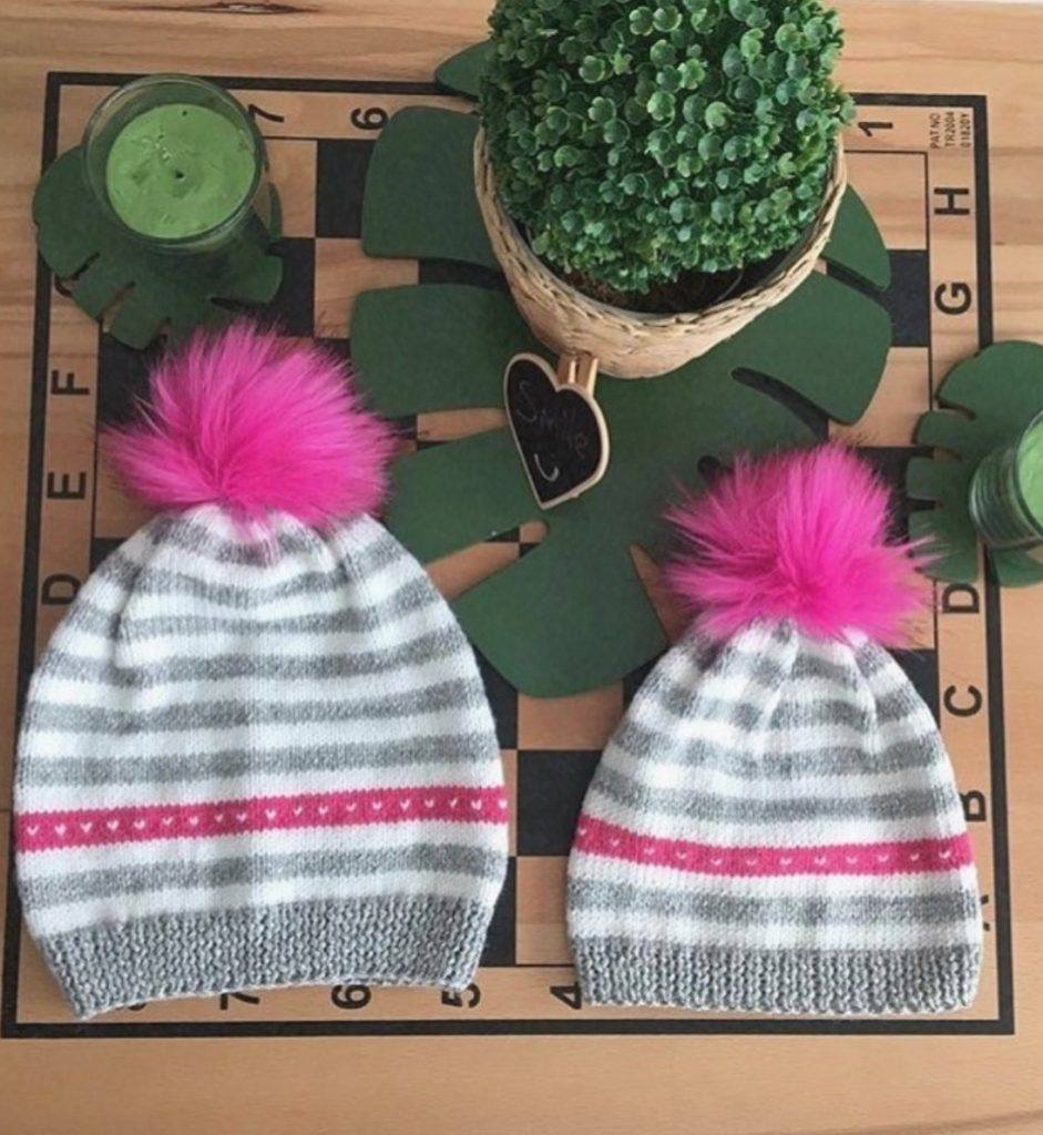 Baby hat for sisters