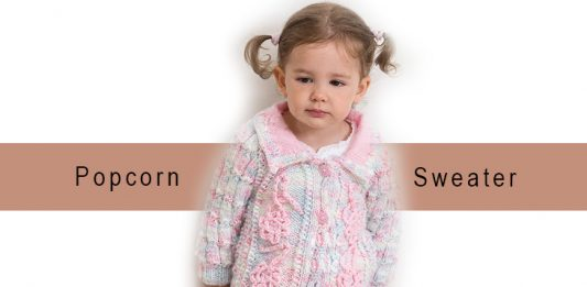 Popcorn Sweater Pattern for girls