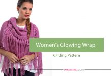 How to knit women's wrap