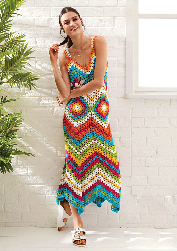 Women's Summer Crochet Dress Pattern: Calico