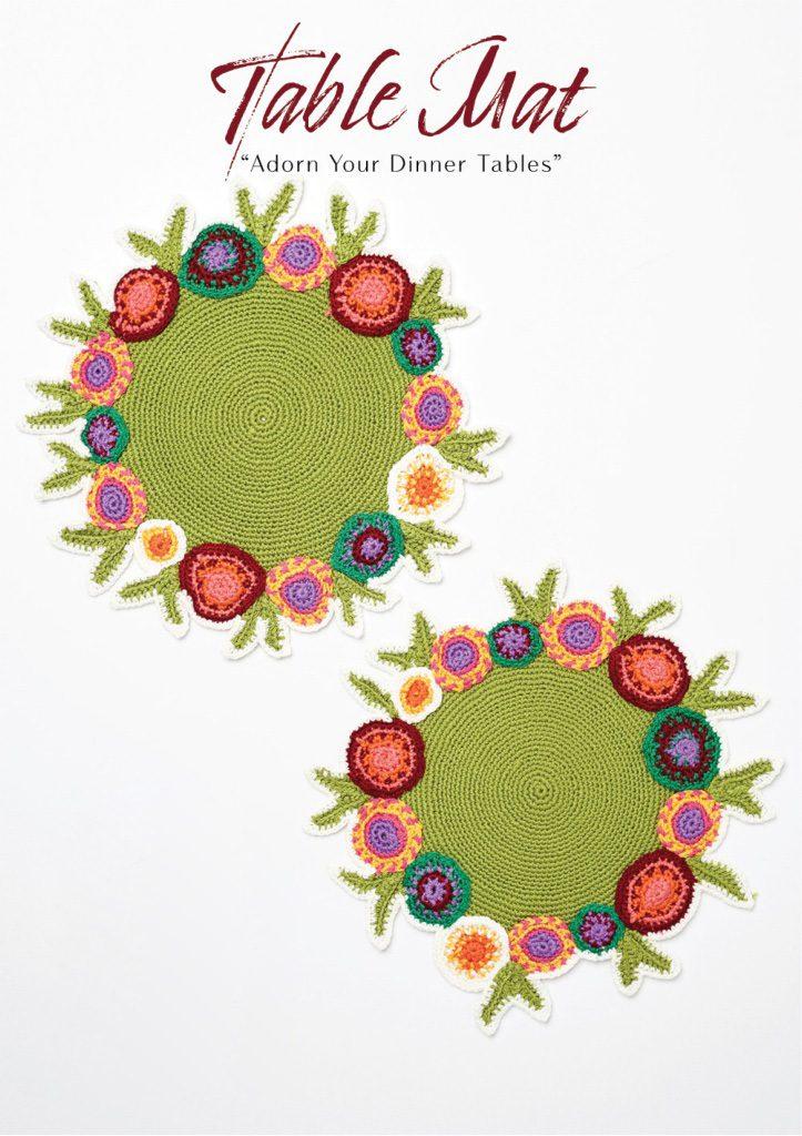 Crochet Table Mat, Adorn your dinner tables
