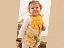 Free baby dress knitting pattern for beginners