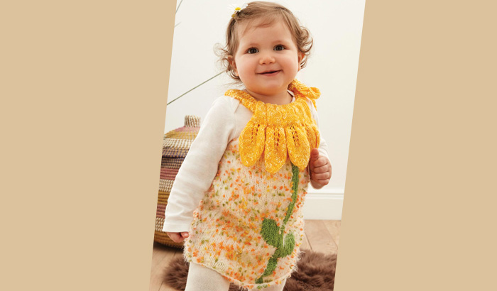 Free Knitting Pattern For Baby Dress Knitting Patterns For Beginners