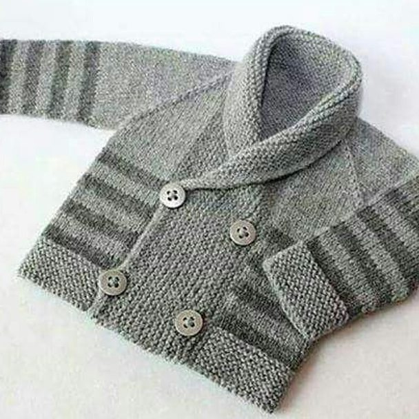 This knitted cardigan pattern is one of the popular designs for boys. I still wanted to share, you can imagine on your child.