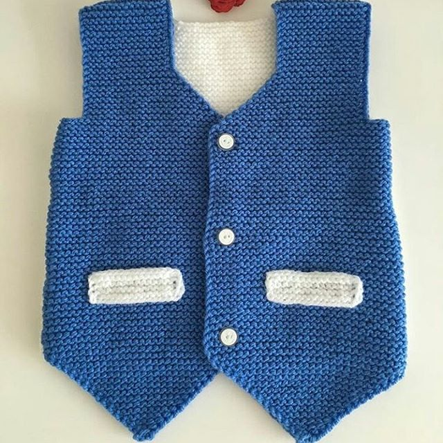 I'm guessing you've never seen a knitted baby vest like this before. Don't you think this knitted baby vest is amazing? I thank the designer.