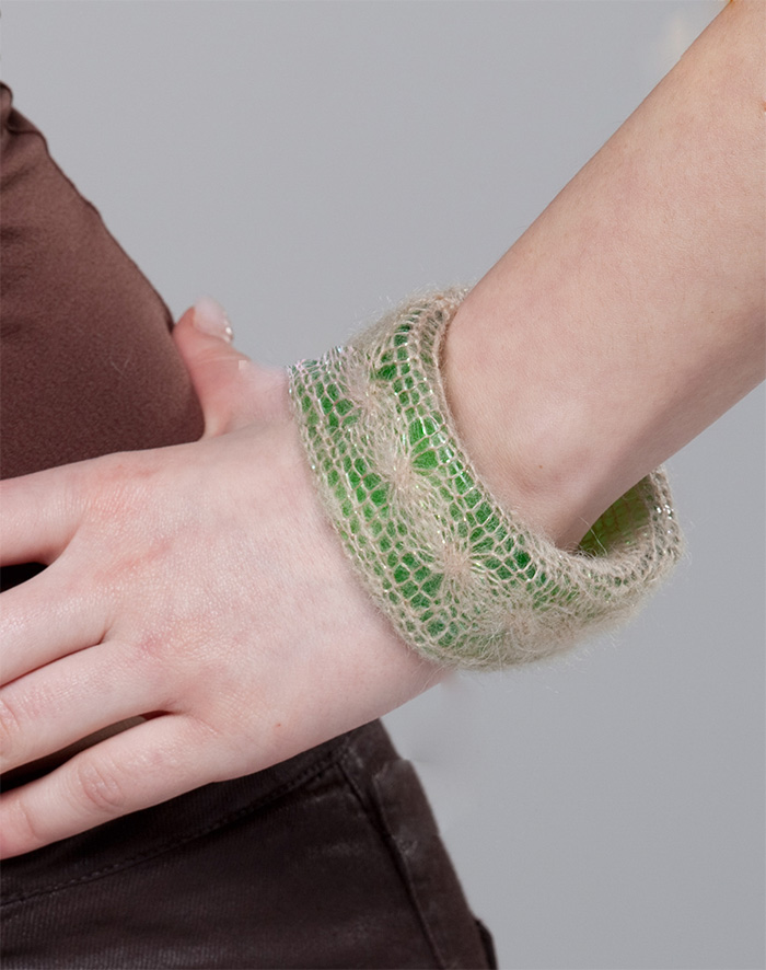 Silverly Bracelet - Free Knitting Patterns For Beginners