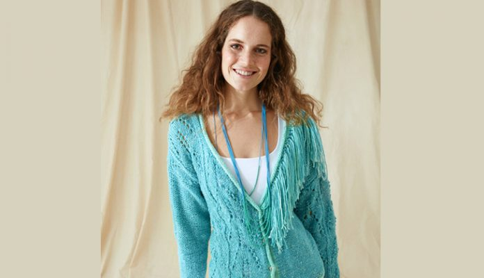 Tasseled cardigan knitting pattern
