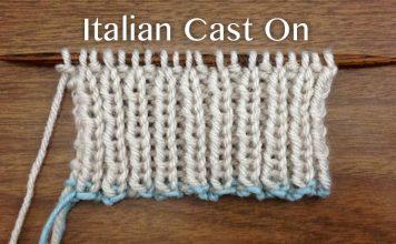 How to make Italian Cast On Stitch