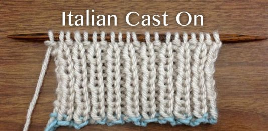 How to make Italian Cast On Stitch