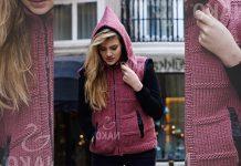 Women's hoodie knitting pattern