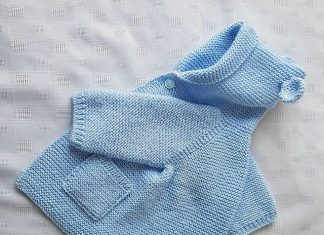 Baby knitting dress pattern